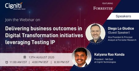 Webinar | Delivering Business outcomes in Digital Transformation initiatives leveraging Testing IP