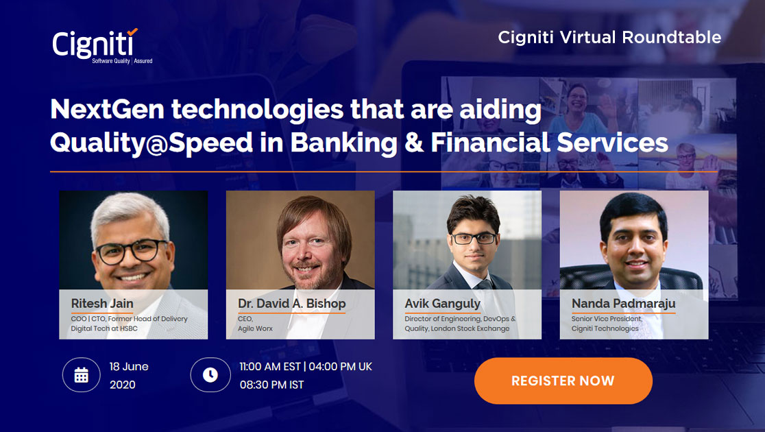 NextGen technologies that are aiding Quality@Speed in Banking & Financial Services