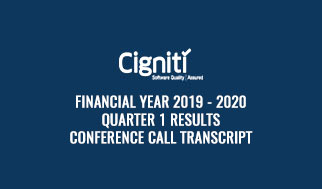 financial year 2019 - 2020 Quarter 1 Results Conference Call Transcript
