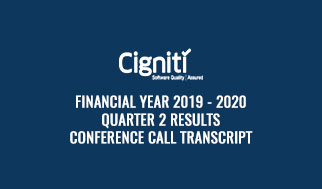 financial year 2019 - 2020 Quarter 2 Results Conference Call Transcript