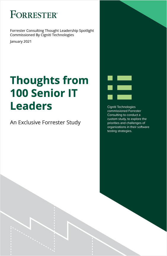 Get an exclusive peek into the perspectives of 100 Senior IT Leaders on how they accelerated their Agile and DevOps journey with Continuous Testing!